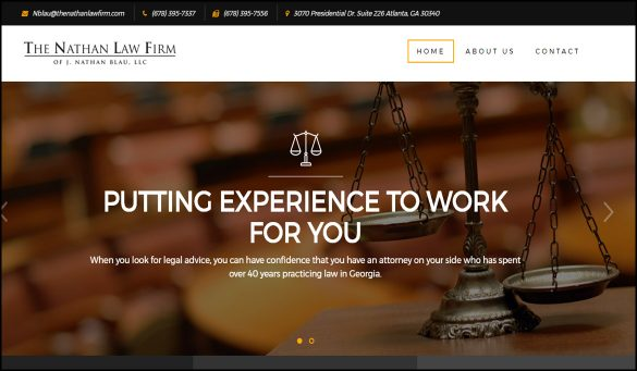 The Nathan Law Firm Website Design